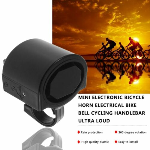 Electronic Bicycle Bike Cycling Alarm Loud Bell Horn Powered By 2xAAA Battery ND