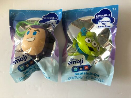 Disney Emoji Squishy Toy Story Buzz Lightyear and Alien Backpack Clip-Ons!