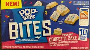 NEW-POP-TARTS-BITES-FROSTED-CONFETTI-CAKE-14-1-OZ-400g-BOX-10-POUCHES-INSIDE
