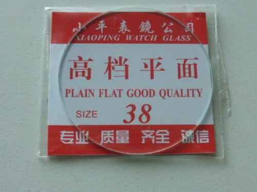 1 Saphir-Glas 38 mm Durchmesser 1,3 mm Dicke