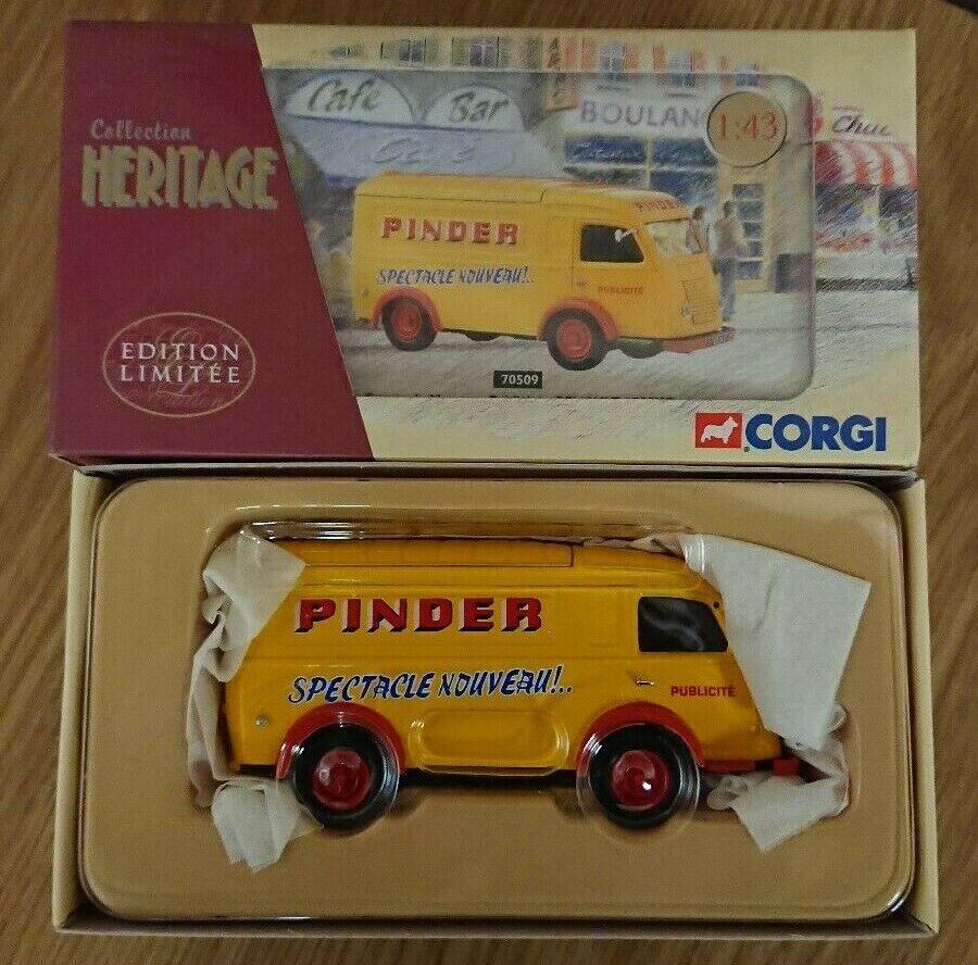 Corgi 70509 Renault 1000kg Pinder Publicity Van Ltd Edition No 0004 of 2100