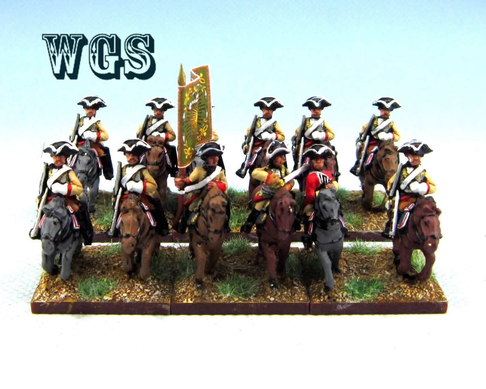 15mm Seven Years War WGS painted French Heavy Cavalry (12 figures) FB8
