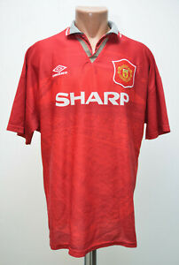 Image is loading MANCHESTER-UNITED-1993-1994-1995-HOME-FOOTBALL-SHIRT- 3afa0dff4