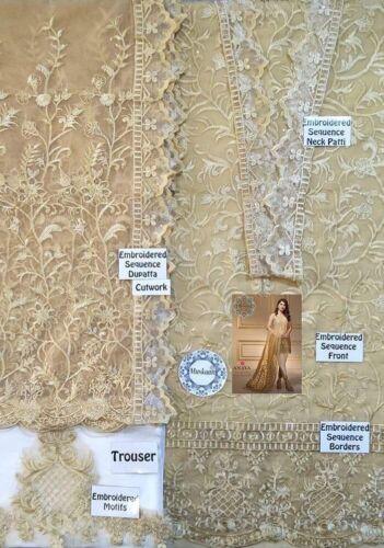 Anaya Nuziale Chaudhry Designer Chiffon sposa Ricamato Cucita Pakistani ZZU48