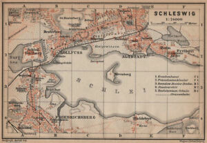 Antiques Strong-Willed Schleswig Town City Stadtplan Lollfuss Friedrichsberg Slesvig Gottorp 1900 Map To Suit The PeopleS Convenience