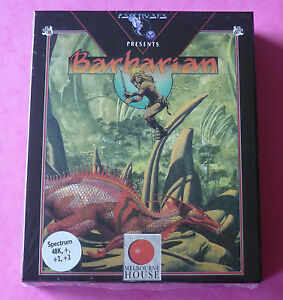 Sinclair-ZX-Spectrum-Psygnosis-BARBARIAN-w-Booklet-1988-NEW-amp-SEALED