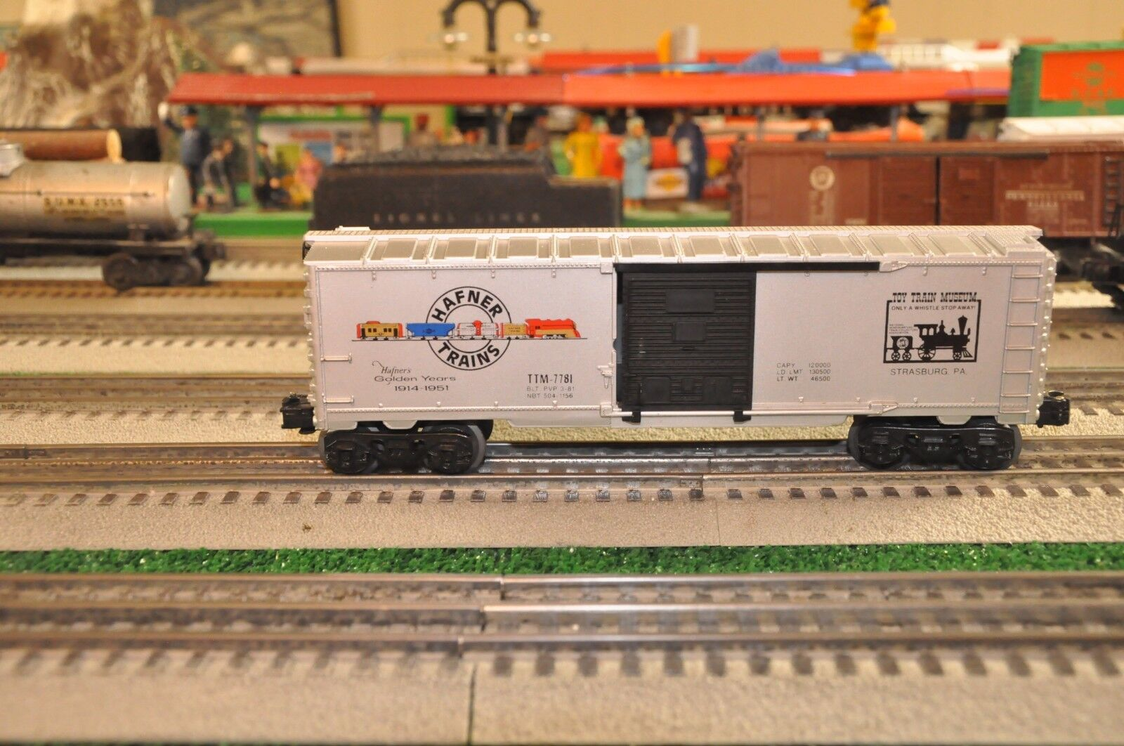 Tren Lionel TTM-7781 TCA Juguete Museo Furgón de 1981 pintado por PVP impresión
