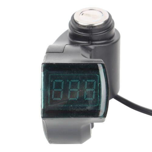 Throttle Voltmeter with Digital Voltage Display Lock for 12-99V E-Bike Scooter