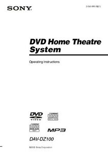 Sony dav-tz140 home theater system owners manual | ebay.