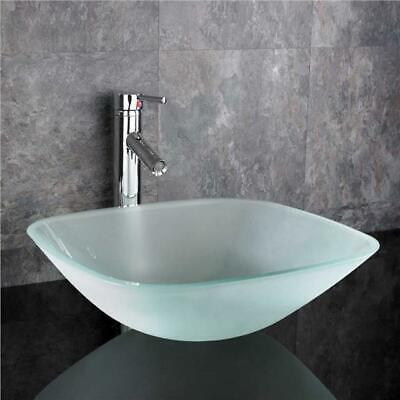 Moda 31cm Square Sink Glass Bathroom Basin Countertop Bowl Cloakroom Sink