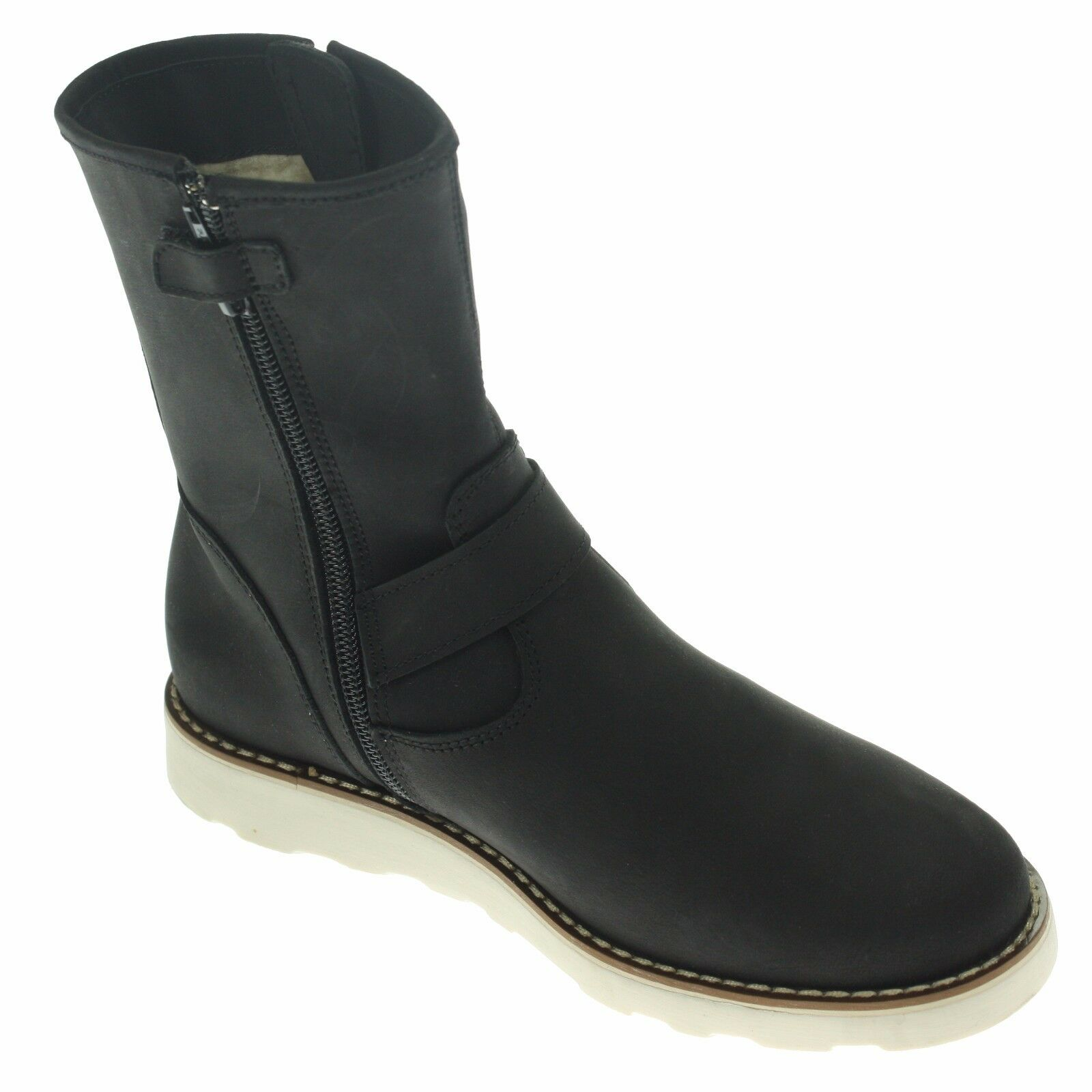 EB Damen Leder Stiefel, Größe 36, schwarz,  NEU