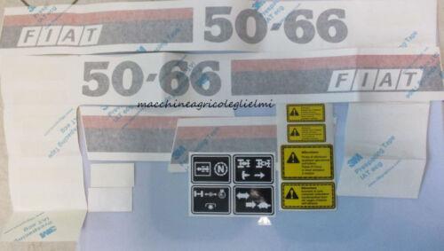 Serie Decalcomania-Adesivi Per Trattore Fiat 50-66...