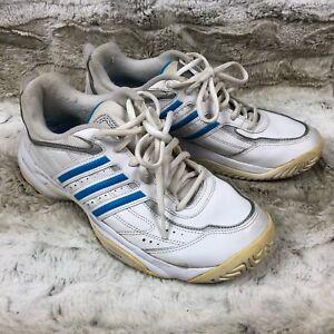 c680fd79d97ab2 ADIDAS mens size 9 athletic shoes WHITE  LIGHT BLUE APE 779001