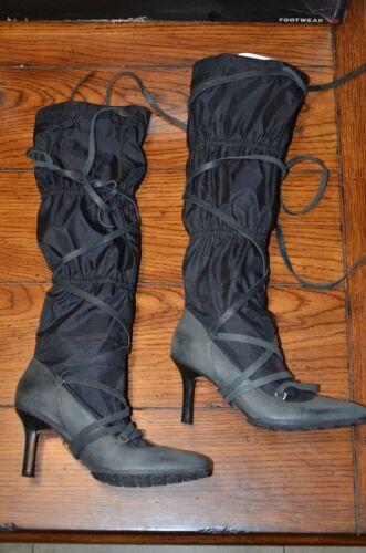 Diesel Lahti knee high lace up Boot womens 6 black