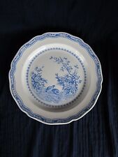 "Furnivals QUAIL Blue Chop Plate Round Serving Platter - 12.25"" Round Stamp"