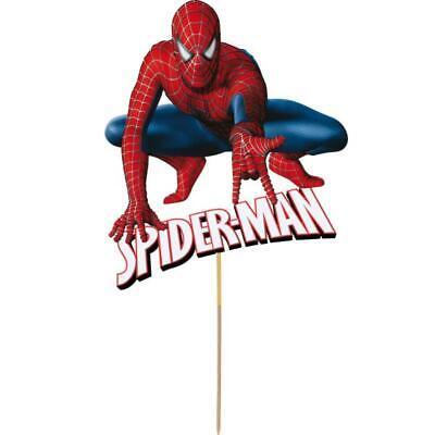 Pleasant Spiderman Cake Topper Kids Birthday Party Decoration Image Cut Funny Birthday Cards Online Unhofree Goldxyz