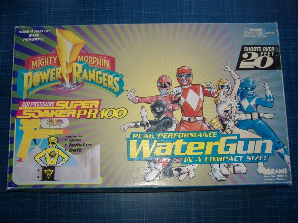 Mighty Morphin Power Rangers Super Soaker. Very Good Condition. In Original Box.