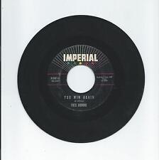 Fats Domino: YOU WIN AGAIN; IDA JANE; IMPERIAL Records 45 rpm