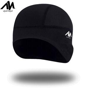 small black spandex Dome Hat skull BIKER football Helmet LINER sports Beanie Cap