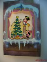 DISNEY MICKEY & MINNIE MOUSE TRIM THE CHRISTMAS TREE CARD COLLECTOR PIN MINT LE