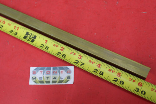 """1//2/"""" x 1//2/"""" C360 BRASS SQUARE BAR 30/"""" long Solid .50/"""" Flat Mill Stock H02"""