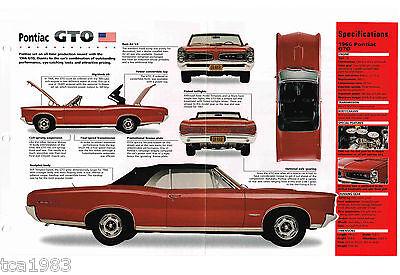 1966 Pontiac Gto / G. T. O. Imp Brochure: Tripolare Grande Assortimento