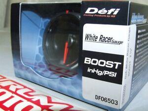 DEFI-WHITE-RACER-ELECTRONIC-TURBO-BOOST-PRESSURE-GAUGE