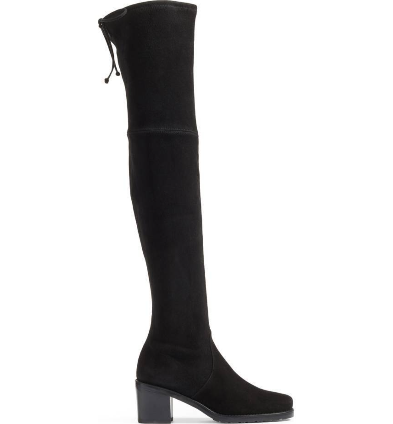 Stuart Weitzman Elevated Elevated Elevated Over The Knee OTK Black Suede Boots Thigh High 8.5 NEW b94028