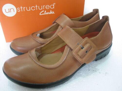 New Clarks ONU structuré Un Lié en Cuir Souple Chaussures Taille 6 /& 8