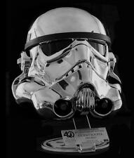 EFX #466 Of 500 Made Star Wars Chrome Stormtrooper Helmet Exclusive LE 40th Wing