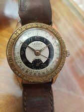 Rare montre vintage homme Lebem calendographe plaqué or mecanique 33mm RefV382