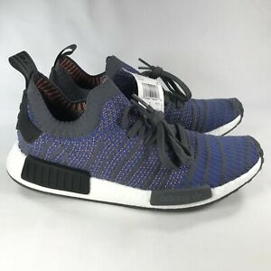 classic fit dd7c1 b151a Details about Adidas NMD_R1 STLT Primeknit Boost Hi-Res Blue Men's Size 9.5  Grey CQ2388
