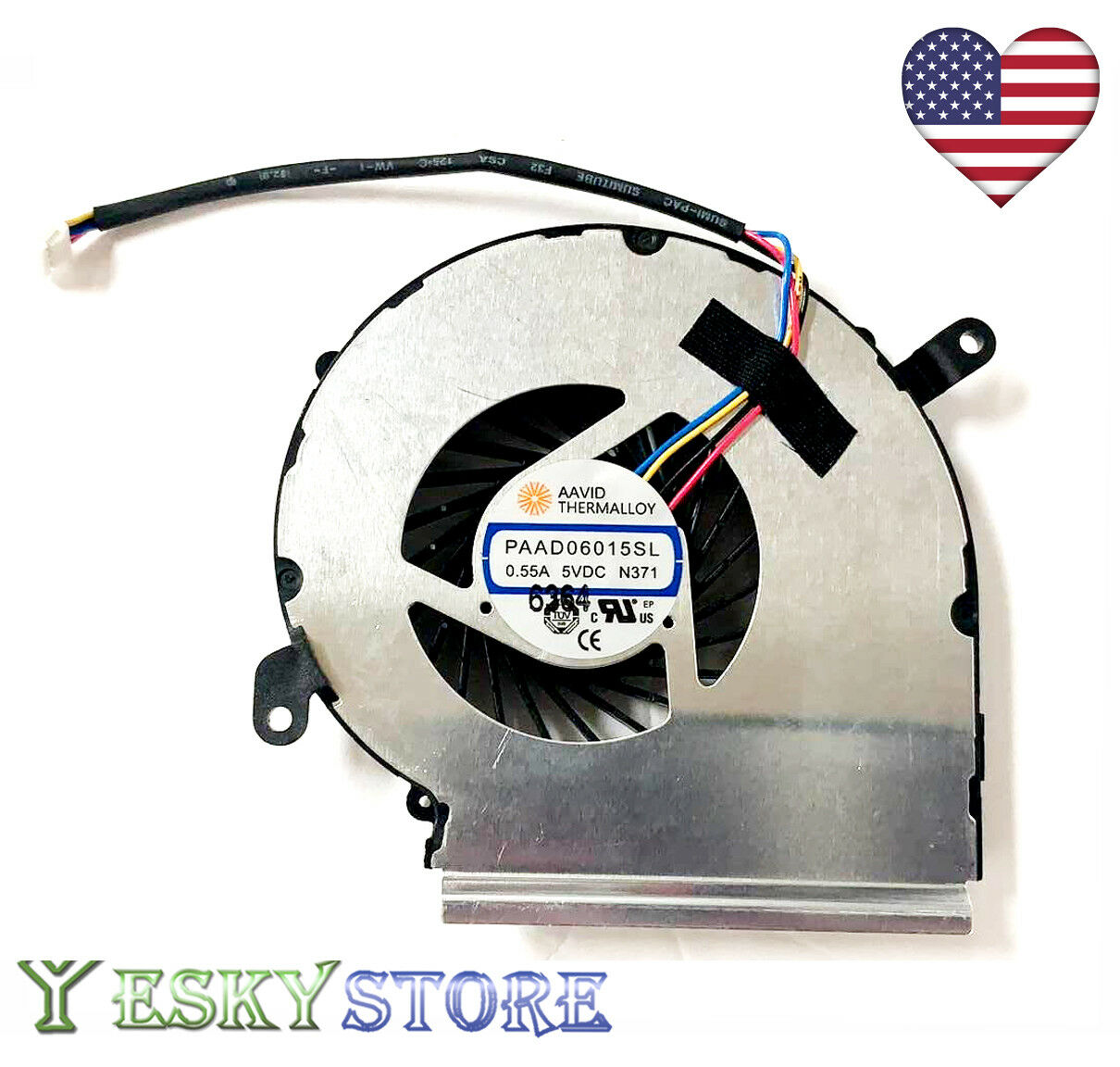New 7TH GEN MSI GV62 PE60 PE62 7RD 7RDX 7RE 7REX CPU Cooling Fan 4-PIN