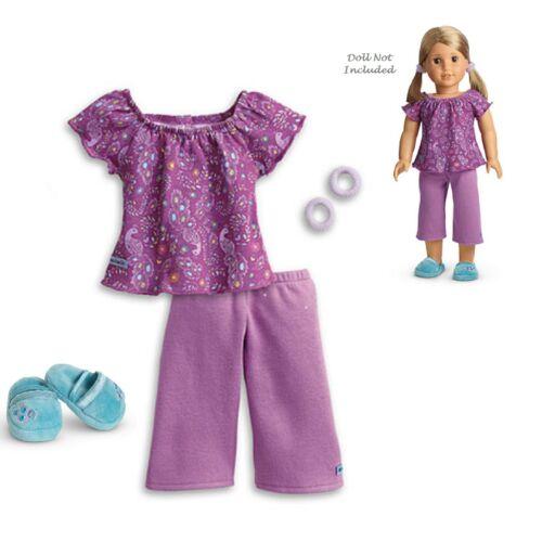 "American Girl MY AG PURPLE PEACOCK PJ/'S for 18/"" Doll Pajamas Retired NEW Box"