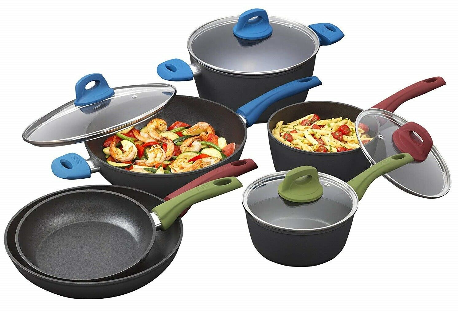 Bialetti Simply italien - 10-Piece Cookware Set MultiCouleure 07448 NEUF