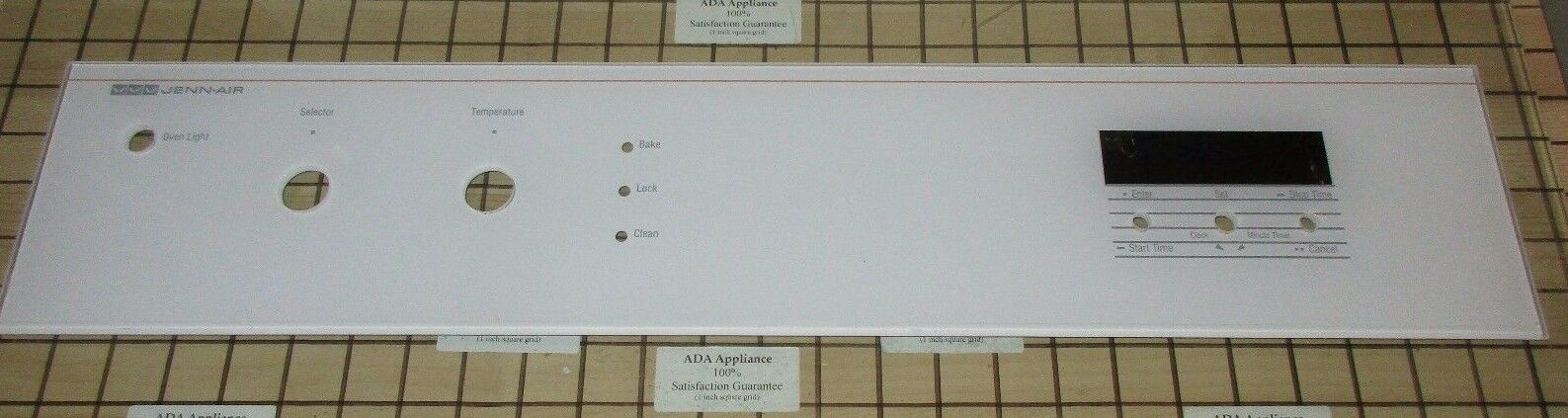 Jenn-Air / WP Glass Control  Panel Wht 705129 SATFACTION GUAR & FREE EXP SHIP