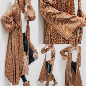 Fashion-Women-Long-Sleeve-Top-Kimono-Cardigan-Waterfall-Jacket-Outwear-Long-Coat