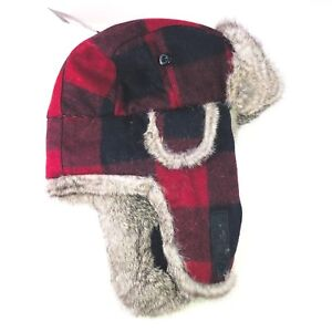 a915205a3f13a Image is loading Bloomingdales-Plaid-Trapper-Hat-Genuine-Rabbit-Fur-Wool-