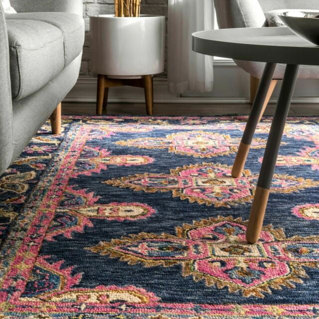 Nuloom Traditional Handmade Artie Bohemian Area Rug In Navy For Sale Online