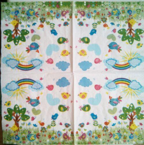 4 x Servilletas de papel decoupage paper napkins.Servietes in papier