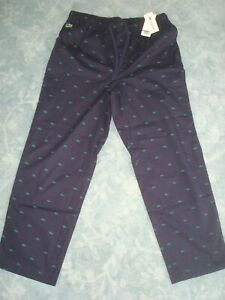 LACOSTE-NAVY-BLUE-LOUNGE-SLEEPWEAR-PANTS-SIZE-L