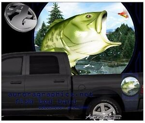 Catfish fishing truck tailgate vinyl graphic decal wraps
