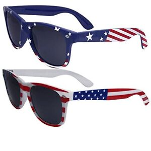 b1784d933a49b BEST 2 Pairs Bulk American Sunglasses USA Flag Classic Patriot ...