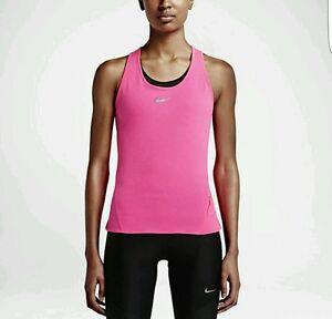 Image is loading Nike-Womens-AeroReact-Running-Tank-Top-Light-Hyper-