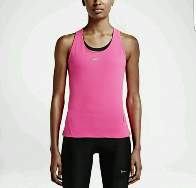 Nike Womens AeroReact Running Tank Top Light Hyper Pink Retail  80 723941  639 72cb56f17