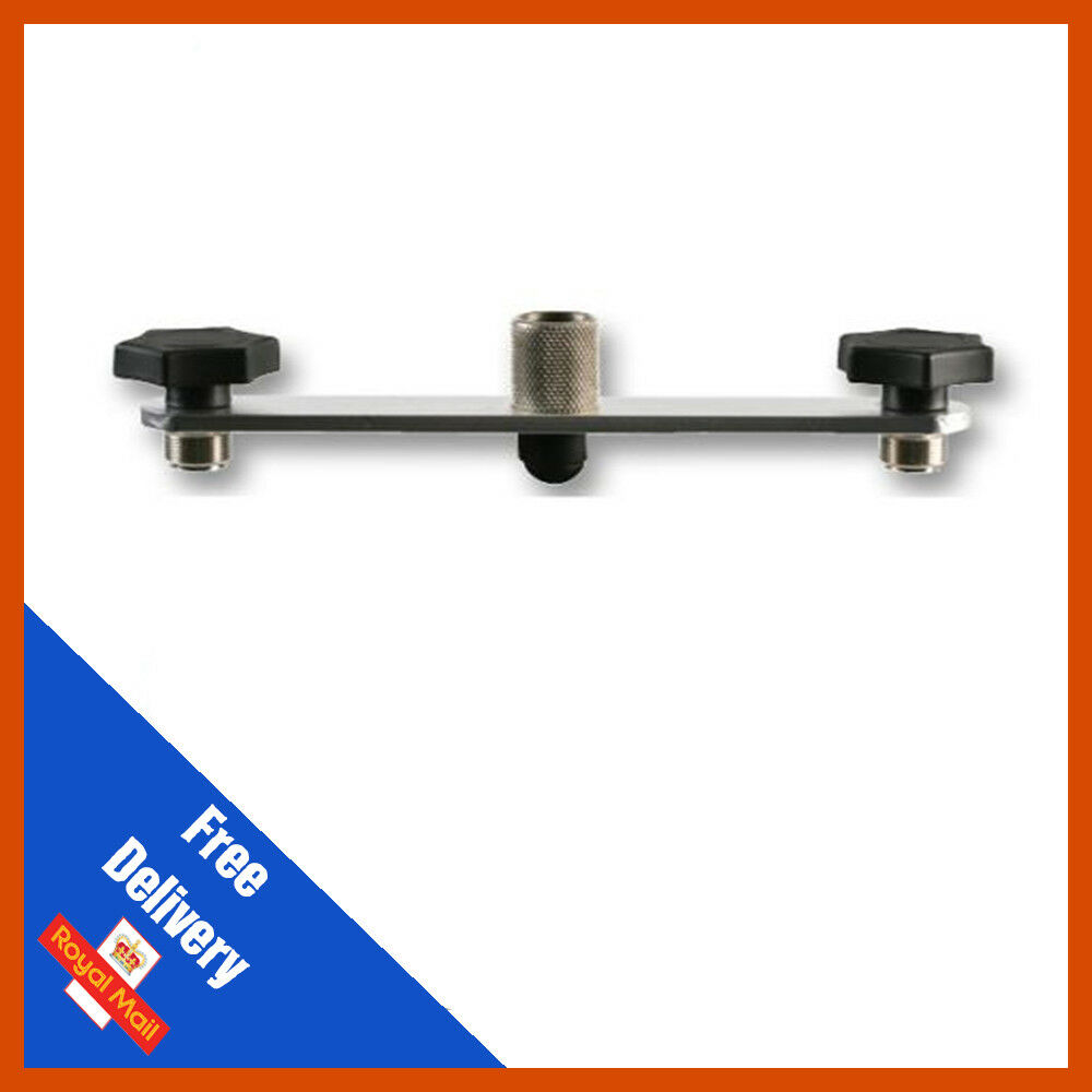 Pulse Microphone Stand Stereo Bar Mount - Hold 2 Microphones, - 185mm