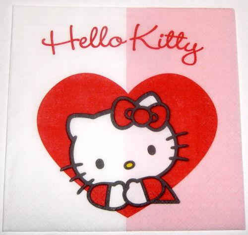 Hello Kitty Sweet Partyset Kindergeburtstag Deko Mottoparty Teller Becher NEU