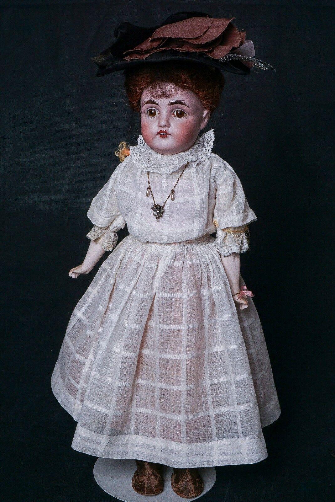 Antique German Bisque Kestner 154 Doll 19  -20  Tall Old blancos