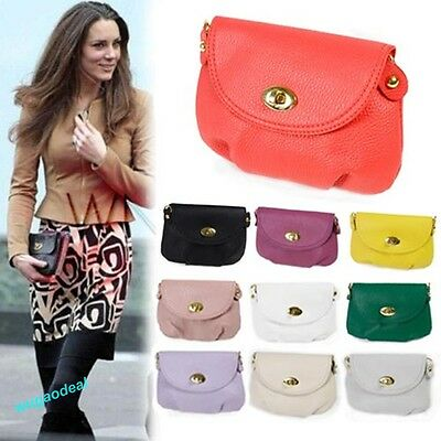 Women Messenger Bag PU Leather Crossbody Satchel Tote Shoulder Handbag Purse