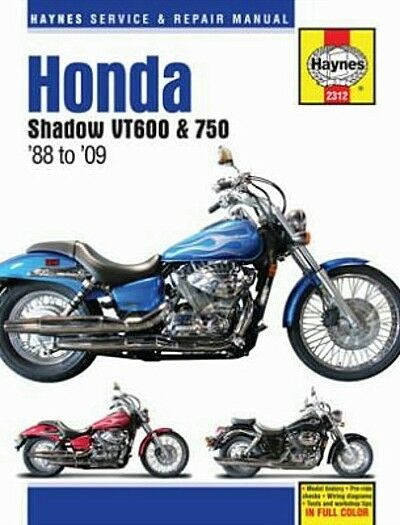 1988-2009 Honda VLX 600 VT 750 Shadow Spirit MANUAL